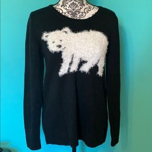 Style & Co. Polar Bear Stretch Holiday Sweater M
